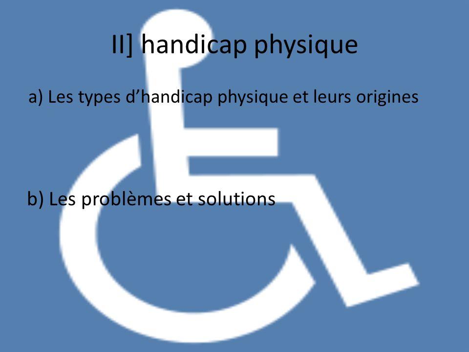 II] handicap physique b) Les problèmes et solutions